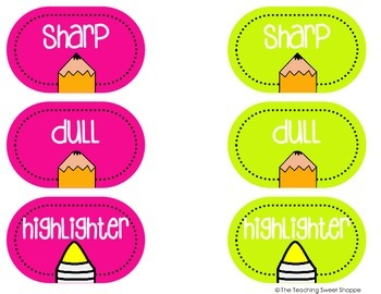 OPERATION ORGANIZATION:  FREE Pencil Cup Labels!