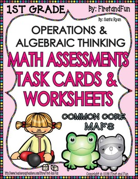OPERATIONS ALGEBRAIC THINKING  ASSESSMENT WORKSHEETS TASK CARD MAFS COMMON CORE