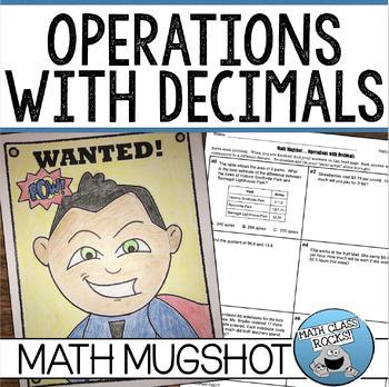 "OPERATIONS WITH DECIMALS - ""MATH MUGSHOT"""