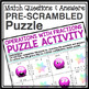 OPERATIONS WITH FRACTIONS PUZZLE