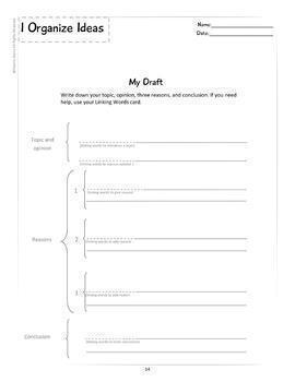 BILINGUAL OPINION BUNDLE - 38 Graphic Organizer Worksheets