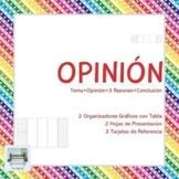 OPINIÓN - 2 Organizadores Gráficos con Tabla