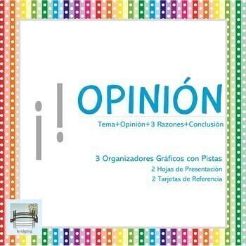OPINIÓN - 3 Organizadores Gráficos con Pistas