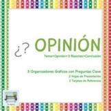 OPINIÓN - 3 Organizadores Gráficos con Preguntas Clave