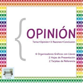 OPINIÓN - 6 Organizadores Gráficos con Diagramas con Llaves