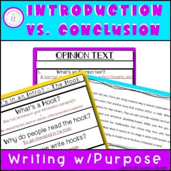 OPINION WRITING : INTRO AND CONCLUSION TASK CARDS