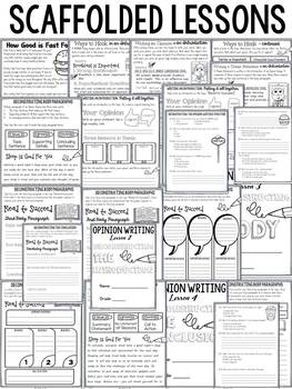 OPINION WRITING: STRUCTURAL COMPONENTS: PRINT-N-GO SHEETS