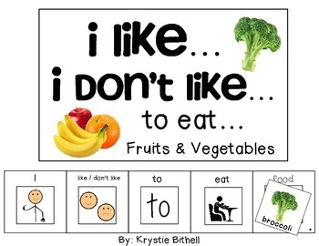 OPINION:I like...I don't like... to Eat... Fruit Vegetable Adapted Book