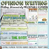 OPINION | PERSUASIVE WRITING: EDITABLE FLIPBOOK ORGANIZER