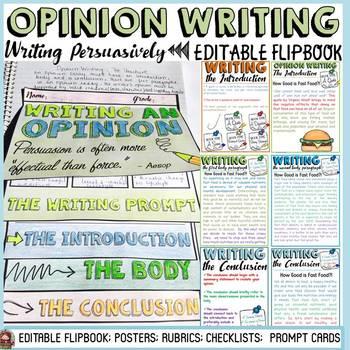 OPINION/PERSUASIVE WRITING: FLIPBOOK ORGANIZER