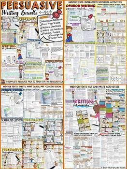 OPINION//NARRATIVE/BIOGRAPHY/INFORMATIONAL MEGA WRITING BUNDLE