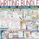 OPINION//NARRATIVE/BIOGRAPHY/INFORMATIONAL MEGA WRITING BUNDLE-NAPLAN TEST PREP