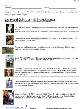 OPINIONS AND SUPERLATIVES (SPANISH)