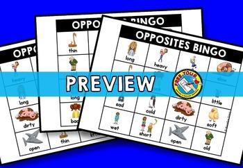 OPPOSITES GAME: ANTONYMS BINGO: OPPPOSITES ACTIVITY: ANTONMYS ACTIVITIES