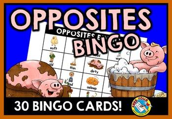 OPPOSITES GAME: ANTONYMS BINGO: OPPPOSITES ACTIVITY: ANTON