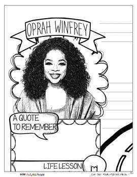 OPRAH WINFREY, WOMEN'S HISTORY, BIOGRAPHY, TIMELINE, SKETCHNOTES, POSTER