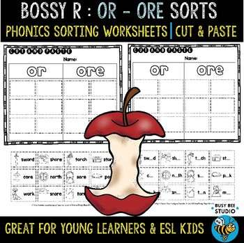 OR - ORE  Sorts | Cut and Paste Worksheets