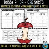 OR - ORE  Sorts   Cut and Paste Worksheets