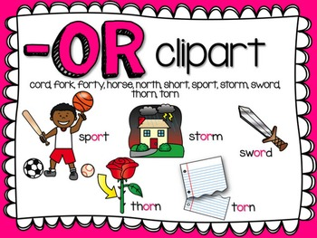 OR  R-Controlled Vowel Clipart by Teacher Laura