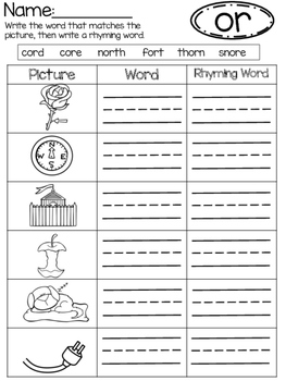 OR (R-Controlled Vowel)  No Prep Phonics Pack