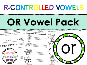 OR R-Controlled Vowel Pack