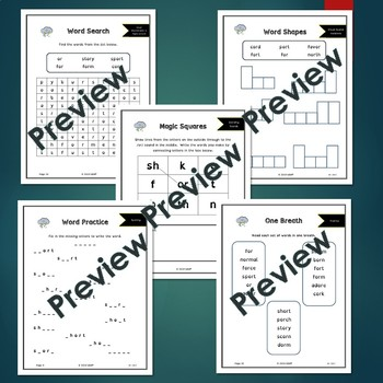 OR - R Controlled Vowels - No Prep Phonics