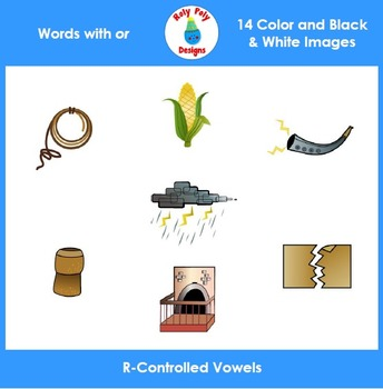 OR R-Controlled Vowels Phonics Clip Art Set by Roly Poly Designs