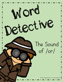 Reading~Phonics~Word Detective ~ Printables~Bossy R: (OR S