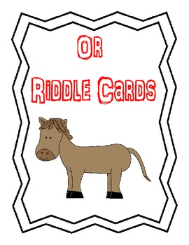 OR riddle clue cards