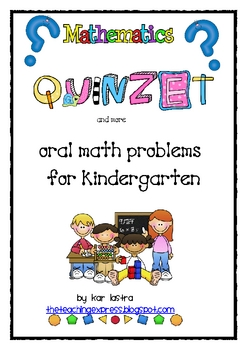 ORAL MATH PROBLEMS FOR KINDERGARTEN