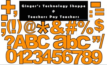 ORANGE! * Bulletin Board Letters * Punctuation * Numbers * Symbols * Alphabet