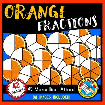 ORANGE FRACTIONS CLIPART: FOOD FRACTIONS CLIPART