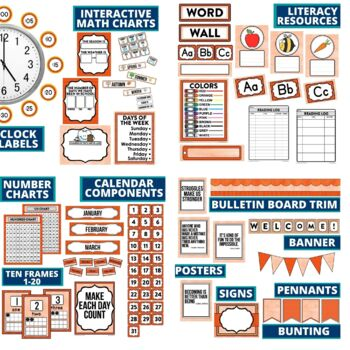 ORANGE Classroom Theme EDITABLE