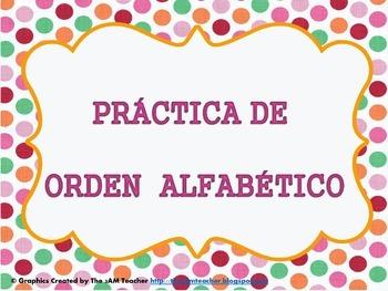 ORDEN ALFABETICO/ALPHABETICAL ORDER