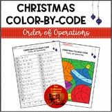 ORDER OF OPERATIONS CHRISTMAS Color By Code Math Worksheets