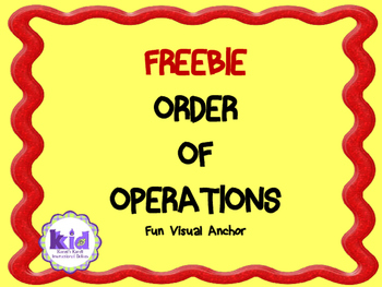 ORDER OF OPERATIONS  PEDMAS:  FREEBIE