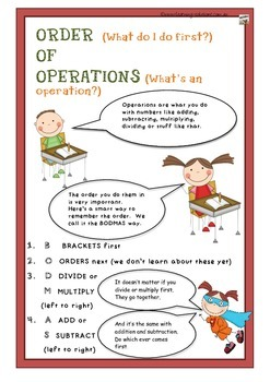 ORDER OF OPERATIONS POSTER Australian Curriculum