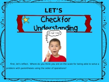 ORDER OF OPERATIONS POWERPOINT LESSON