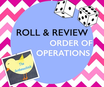 ORDER OF OPERATIONS Partner Dice Game