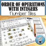 ORDER OF OPERATIONS WITH INTEGERS NUMBER TILES