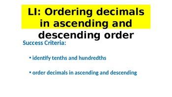 ORDERING DECIMALS POWERPOINT | Year 5 MATHS (ACMNA105)