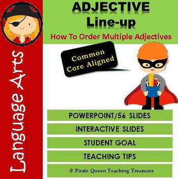ADJECTIVE ORDER PowerPoint CCSS Aligned 4th Grade Up