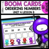 ORDERING NUMBERS BOOM CARDS | DIGITAL TASK CARDS | Module