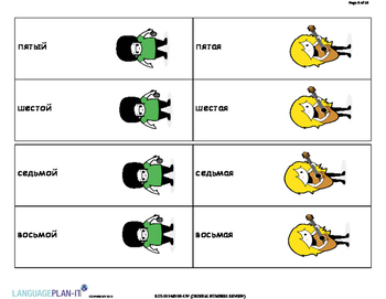 ORDINAL NUMBERS REVIEW (RUSSIAN)
