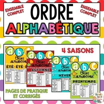 ORDRE ALPHABÉTIQUE - SAISONS - ENSEMBLE COMPLET - Bundle