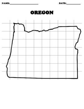 OREGON Coordinate Grid Map Blank
