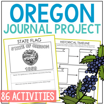 OREGON History Project, Differentiated State Research Journal {EDITABLE}
