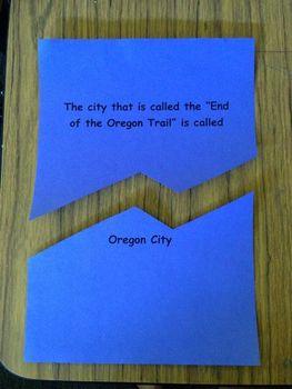 OREGON TRAIL 4th Grade End of Unit: Jigsaw activity, Bingo, Assessment