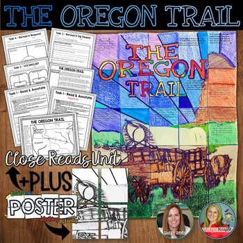 OREGON TRAIL, CLOSE READS UNIT, COLLABORATIVE POSTER, WRIT
