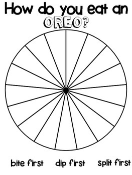 OREO Class Graph Activity, Circle Graph / Pie Graph